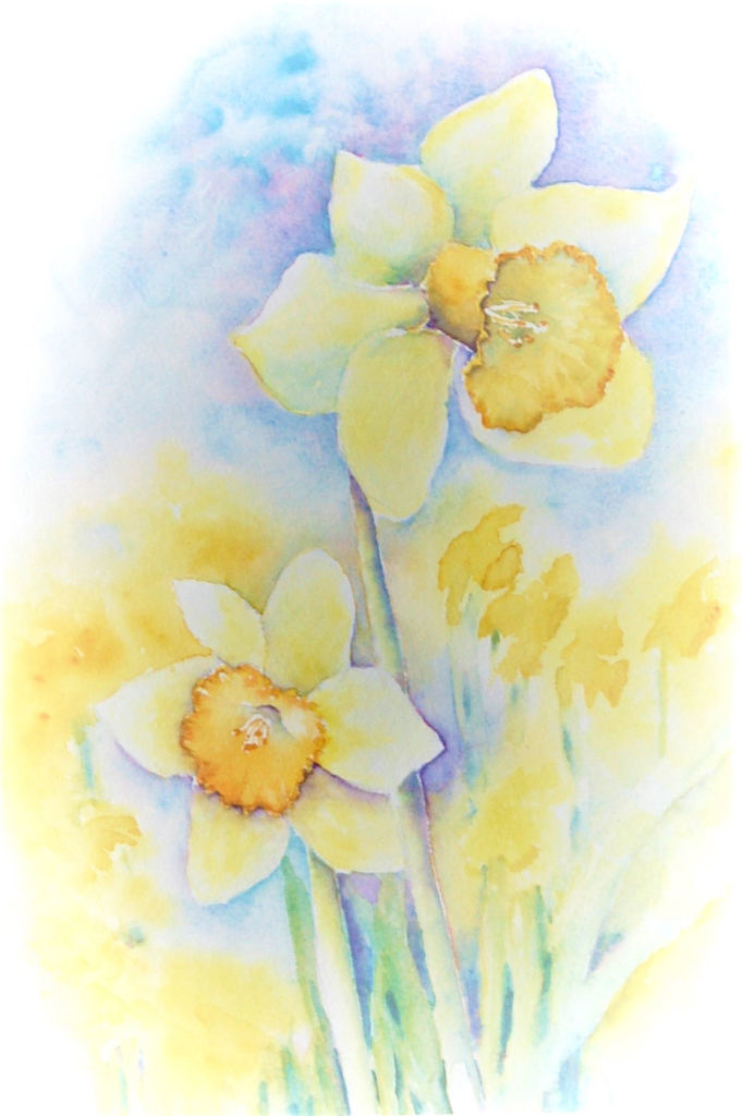 Daffodils, William Wordsworth by Drusilla Cleary