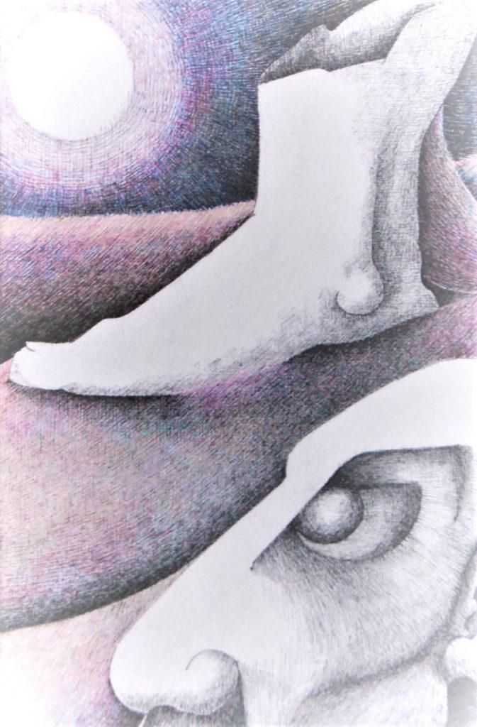 Ozymandias, Percy Bysshe Shelley by Biddy Scott