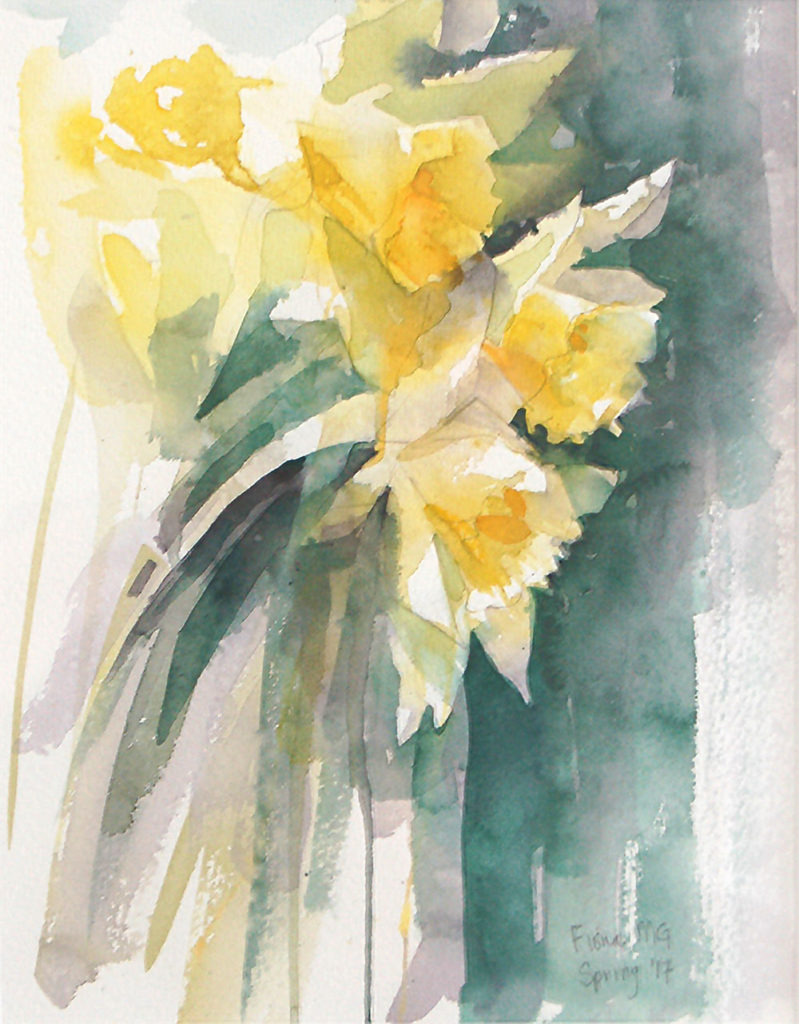 Daffodils, William Wordsworth by Fiona Godfrey