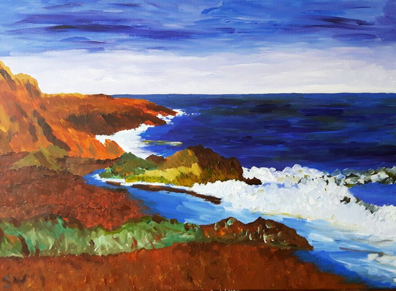 Deep Deep Inspirational Blue Greystones by Sinead Wyse