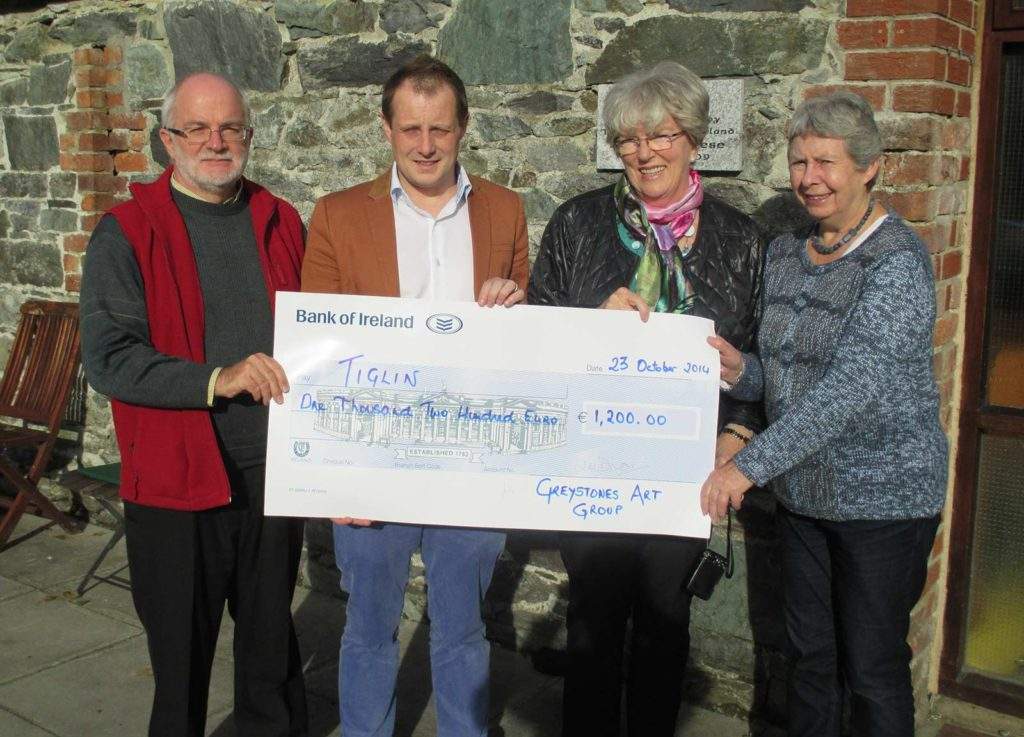 Greystones Art Group Tiglin Fund Raiser