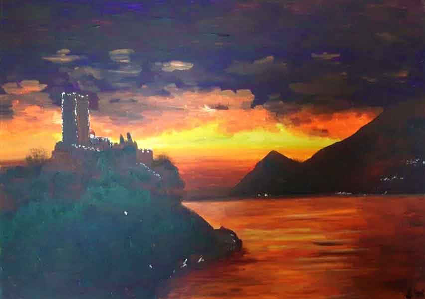 Sunset on Lake Garda by Sinead Wyse